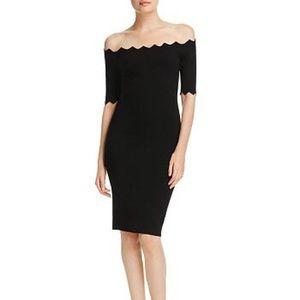 Milly off shoulder scalloped dress